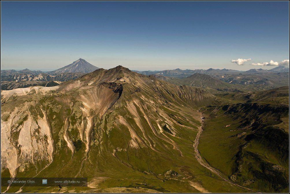 горы,вершины,долина,вулкан,камчатка, Александр Лицис