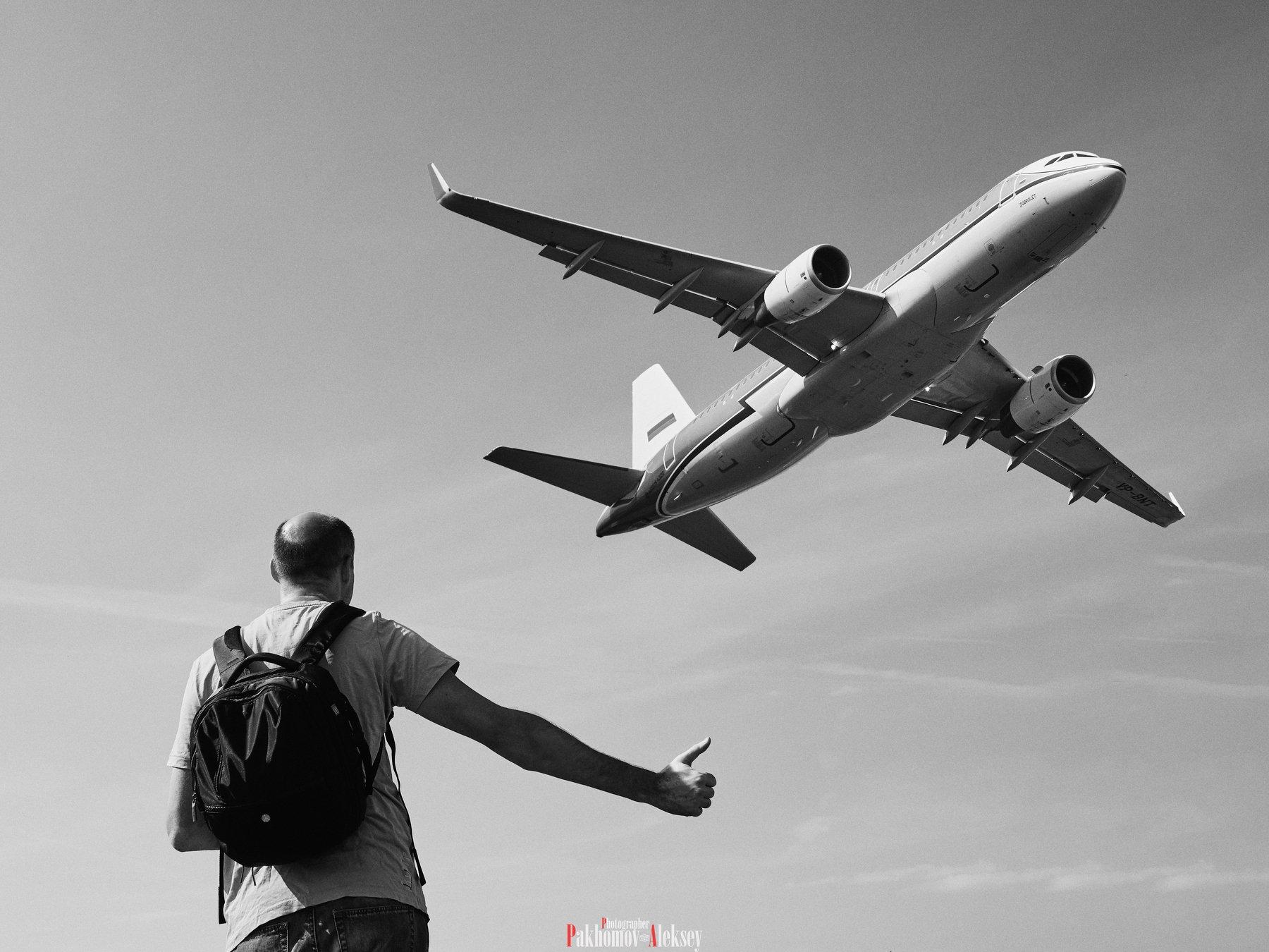people, monochrome, black, white, bw, b&w, blackwhite, black&white, story, airplane, aircraft, men, Pakhomov Aleksey