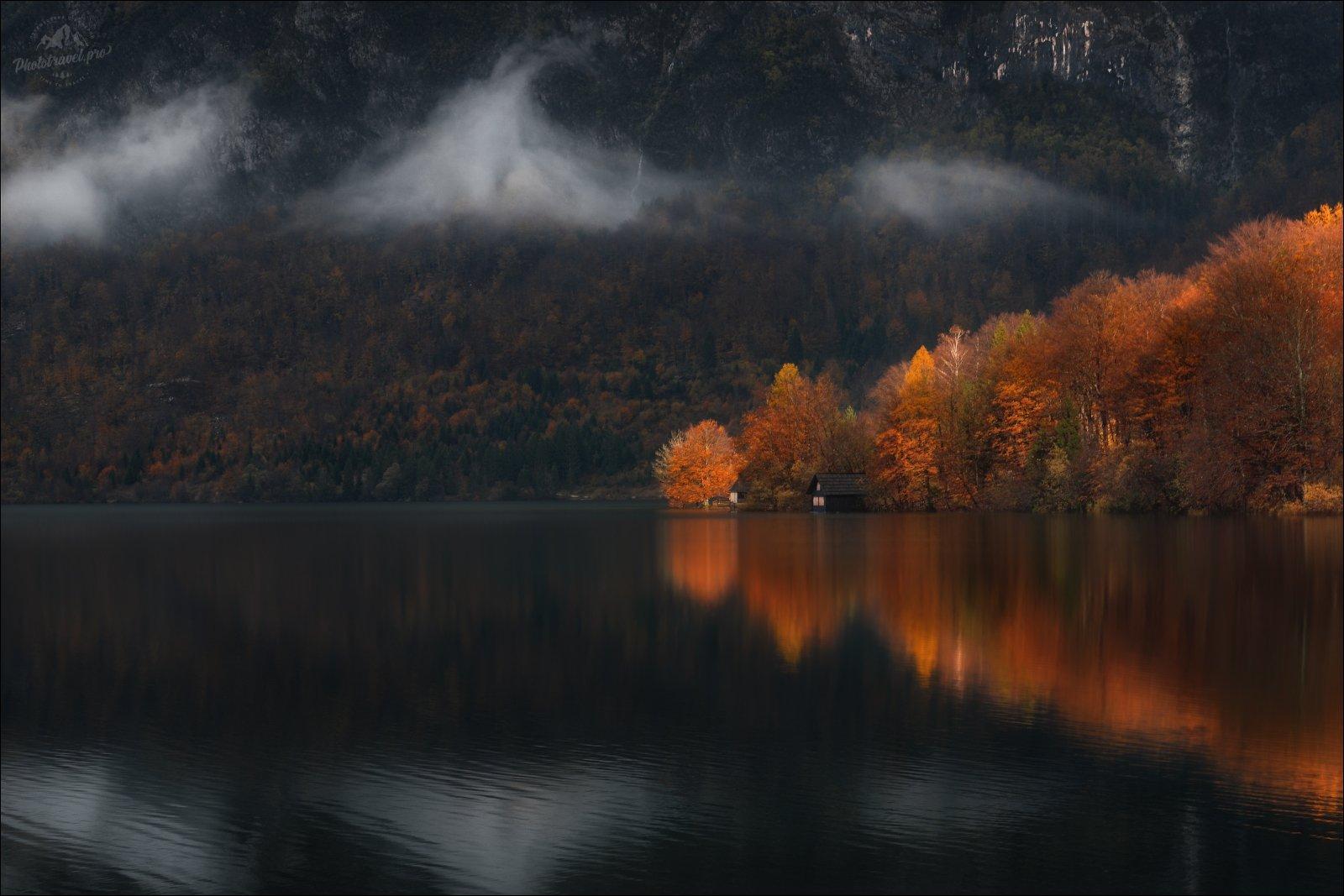 Словения, осень, Бохинь, озеро, lake, Bohinj, Slovenia, Влад Соколовский