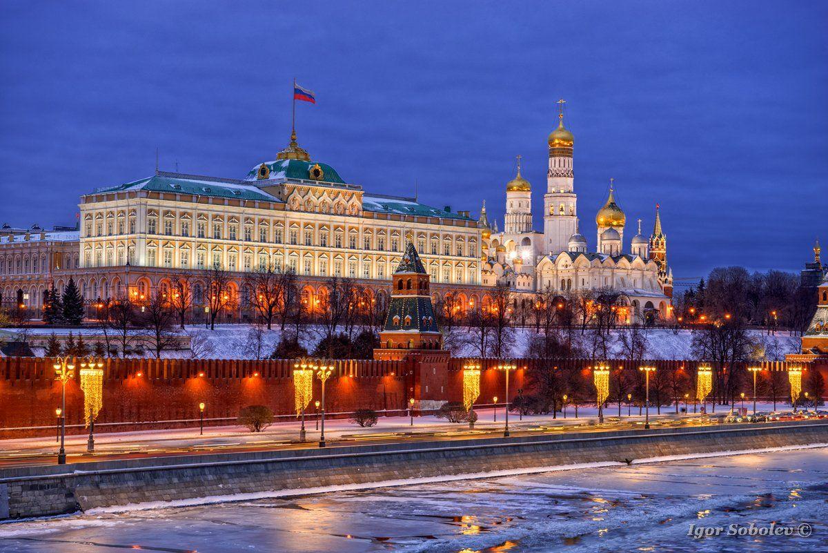 Москва, Кремль, зима, Moscow, Kremlin, winter, Игорь Соболев