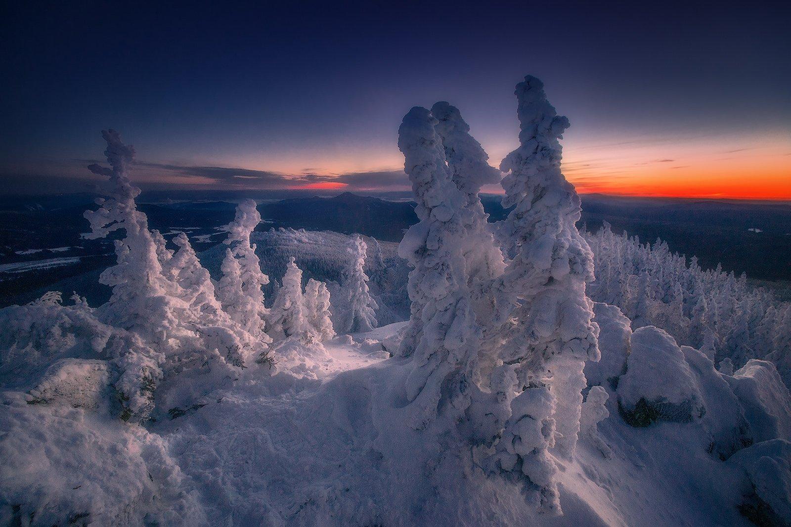 ялангас, урал, горы, зима, Владимир Ляпин