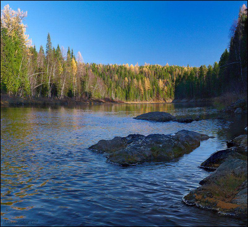 река, большая, сосьва, осень, Alexander Gil