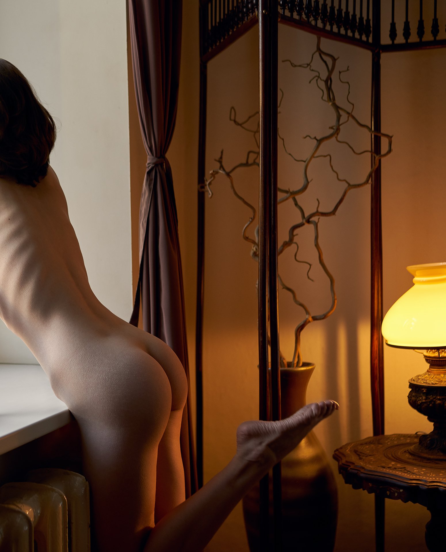 girl, nude, naked, at home, lamp, saint-petersburg, window, light, body, Роман Филиппов