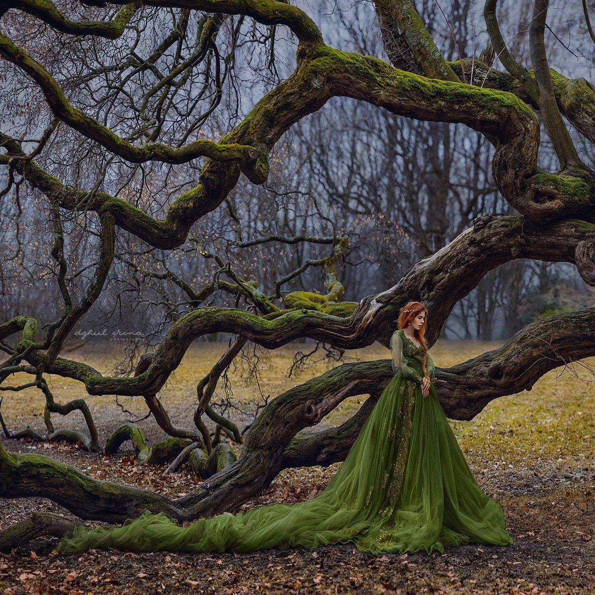 portreit, people, girl, woman, irinadzhul, dzhulirina, green, forest, trees, Ирина Джуль