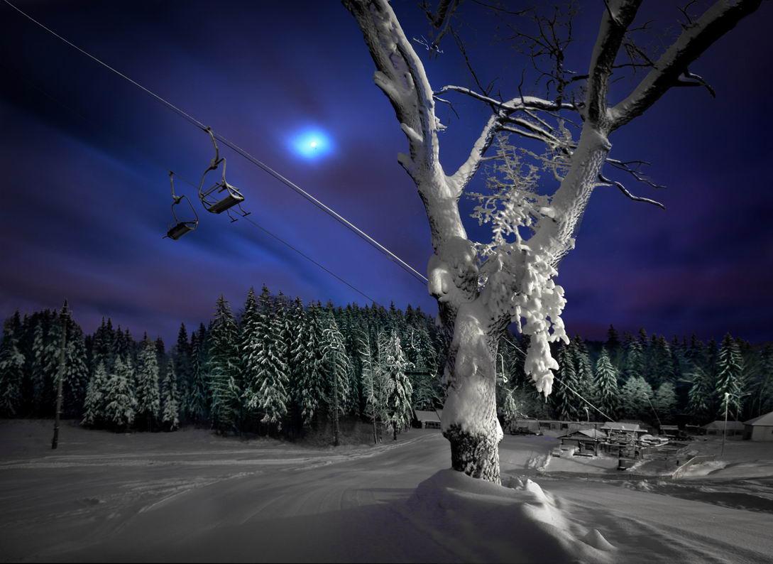 беларусь, звезды, зима, луна, мороз, ночь, снег, логойск, дудутки, Serg-N- Melnik-oy