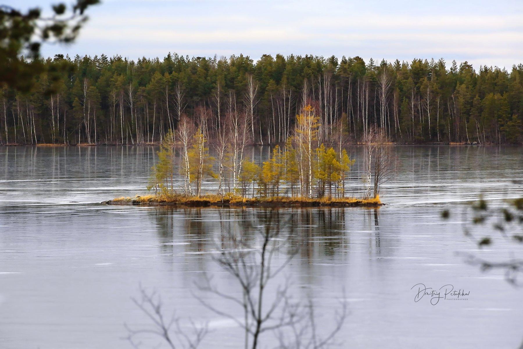 зима, карелия, пейзаж, природа, озеро, Петухов Дмитрий
