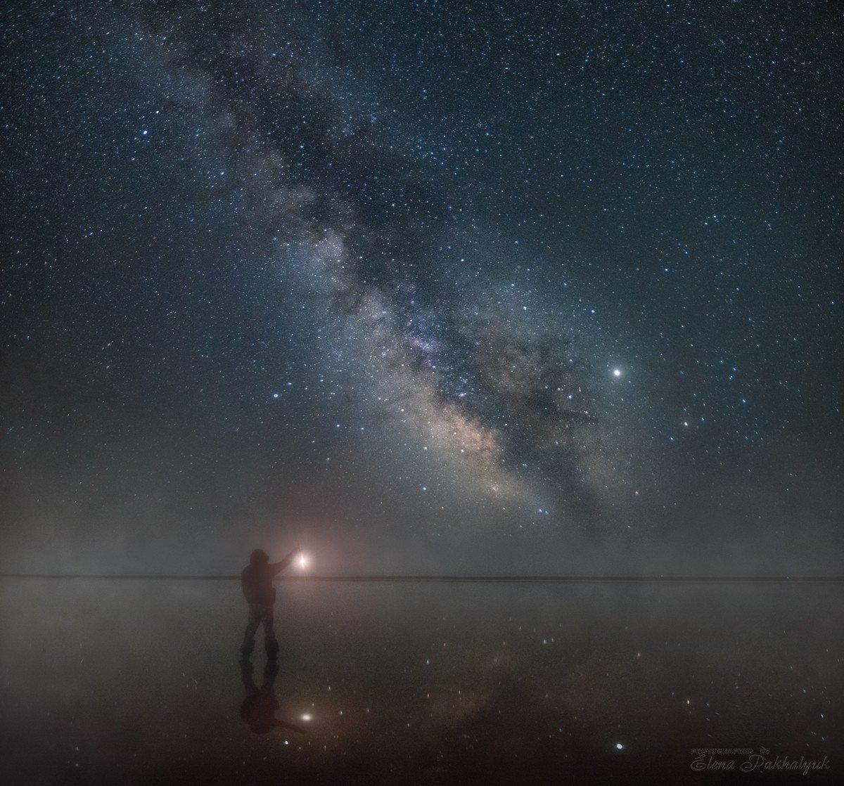 пейзаж,ночь,млечный путь,крым,опук,кояшское озеро,россия,природа,фототур, Elena Pakhalyuk