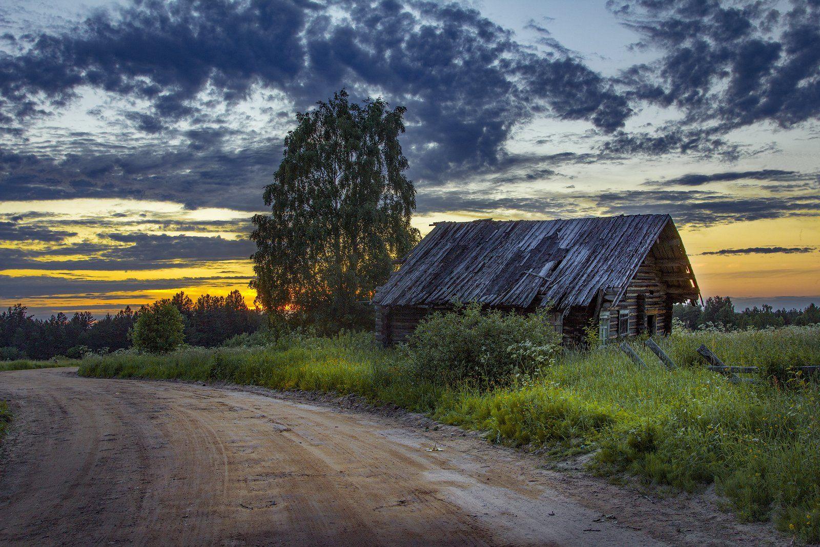 архангельская обасть, белая ночь, кенозерский национальный парк, русский север, заброшенные деревни, Карпов Михаил