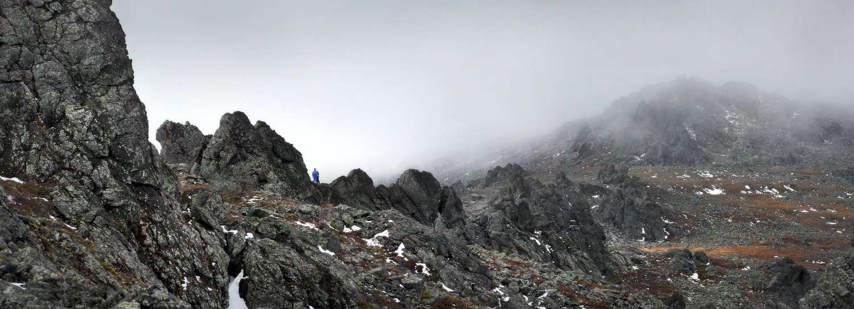 урал, горы, серебрянский камень, скалы, облака, Бродяга с севера