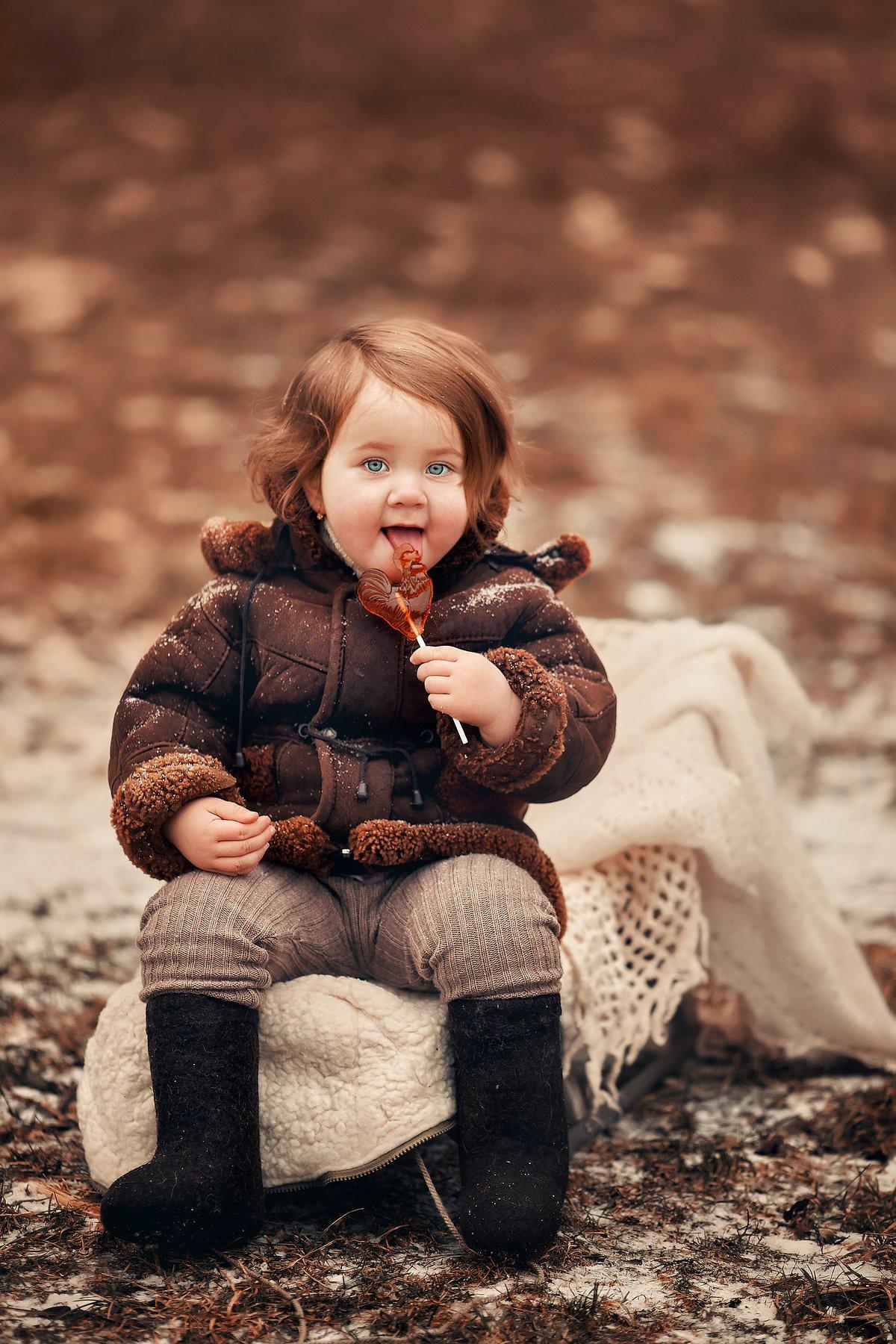 детская фотосессия, дети модели, СССР, зимняя фотосессия, Чупико Анастасия
