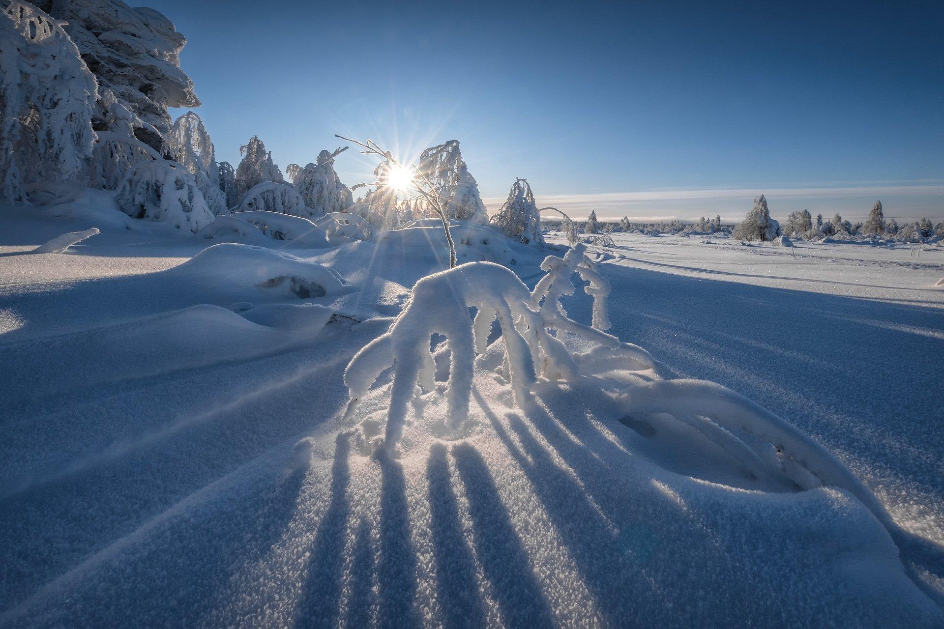 зима, снег, урал, губаха, горы, сказка, холод, мороз, солнце, деревья, скалы, лес, Андрей Чиж