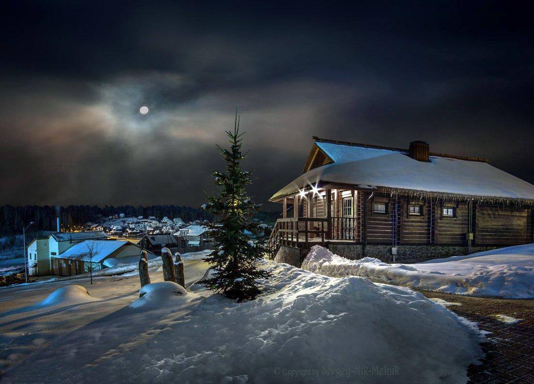 беларусь, звезды, зима, луна, мороз, ночь, снег, дудутки, Serg-N- Melnik-oy
