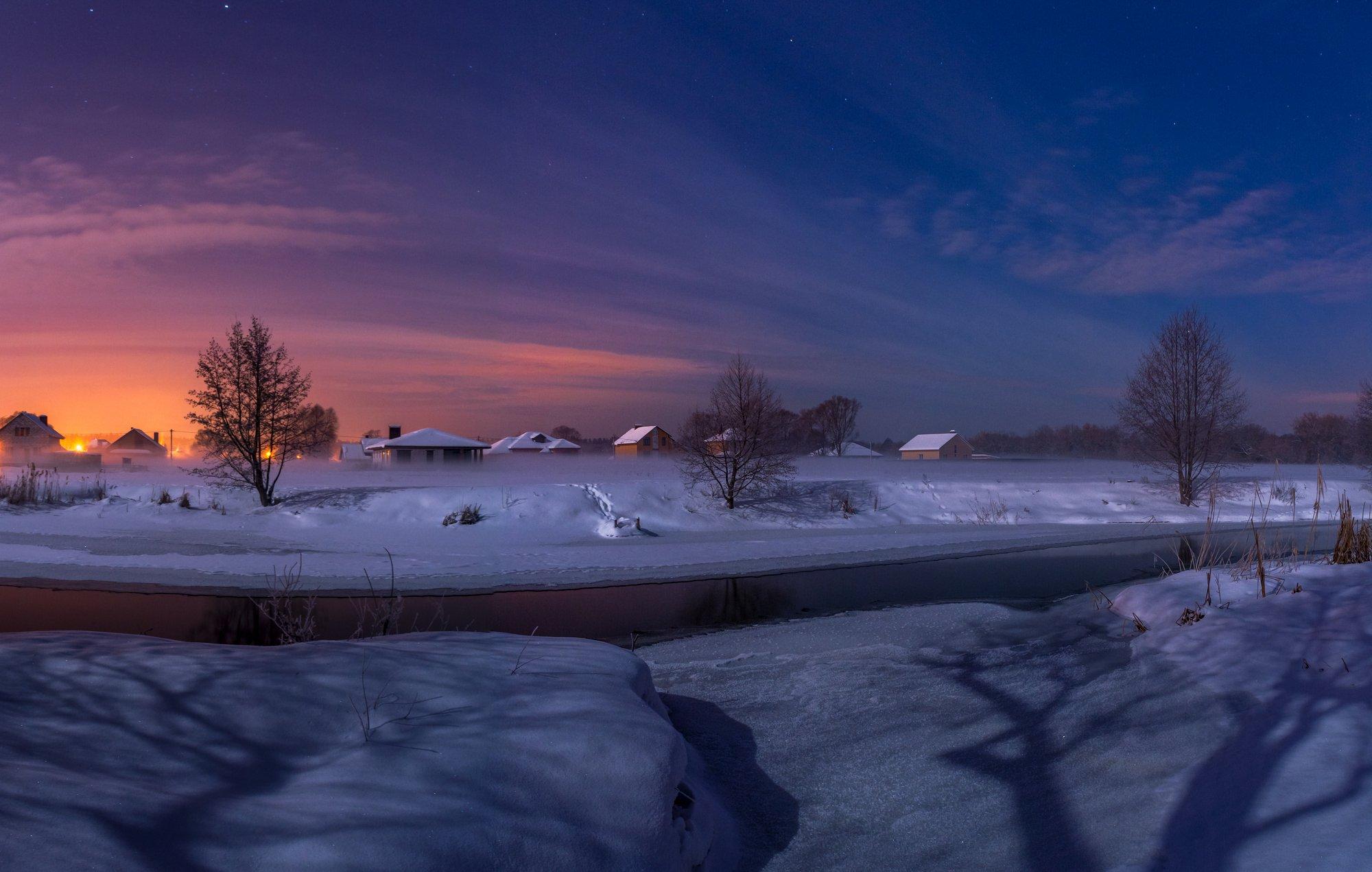 зима,река нежеголь,титовка,шебекино,туман,зимний туман, Литвишко Александр