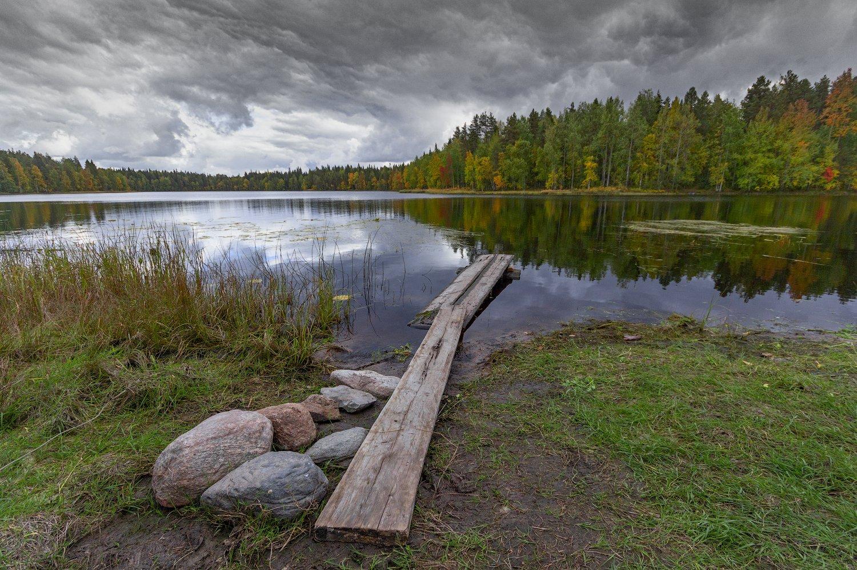 Архангельская область, осень, озеро, Русский север, Карпов Михаил