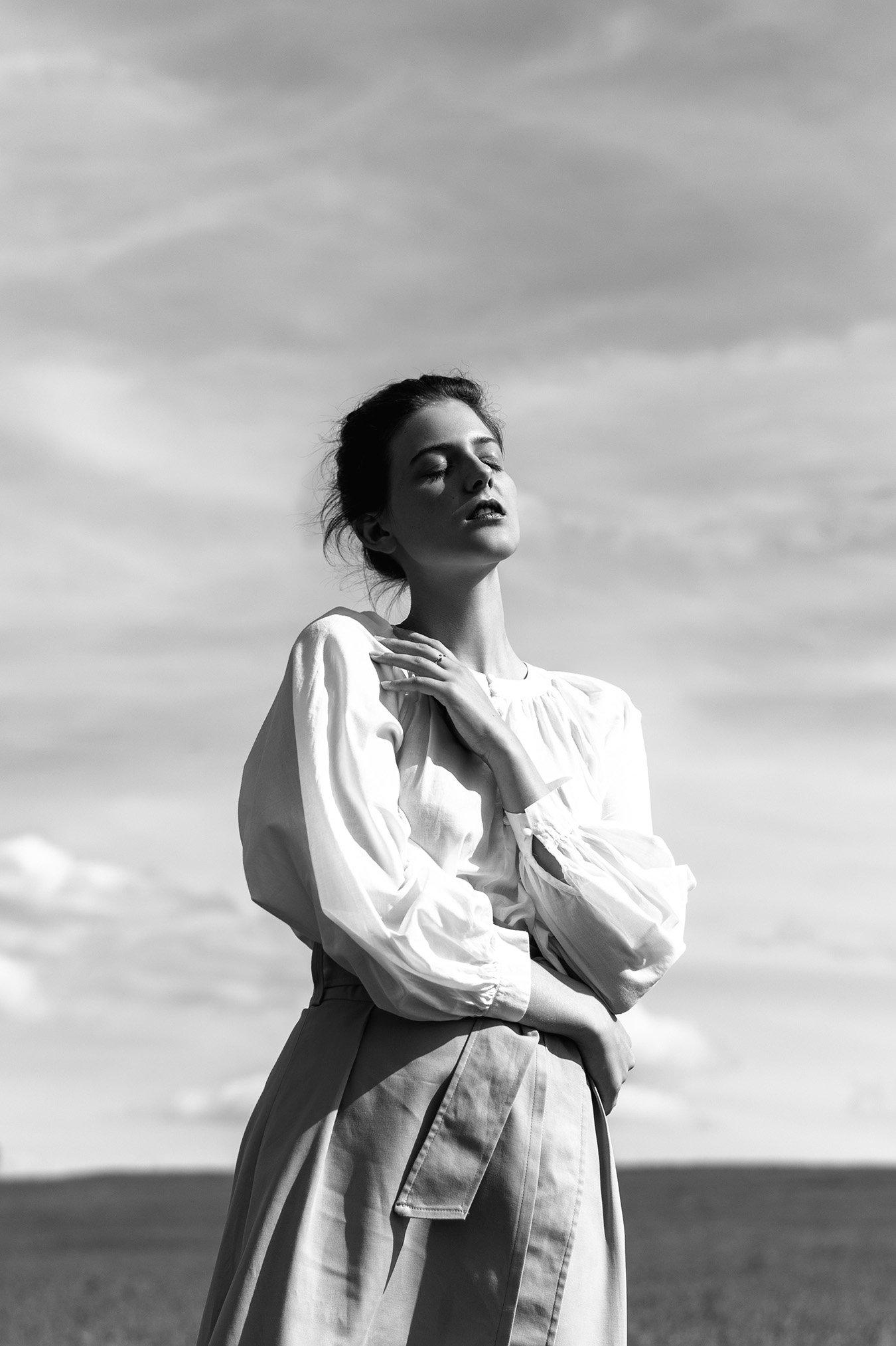 portrait женский портрет woman bnw black and white, Костюченков Дмитрий
