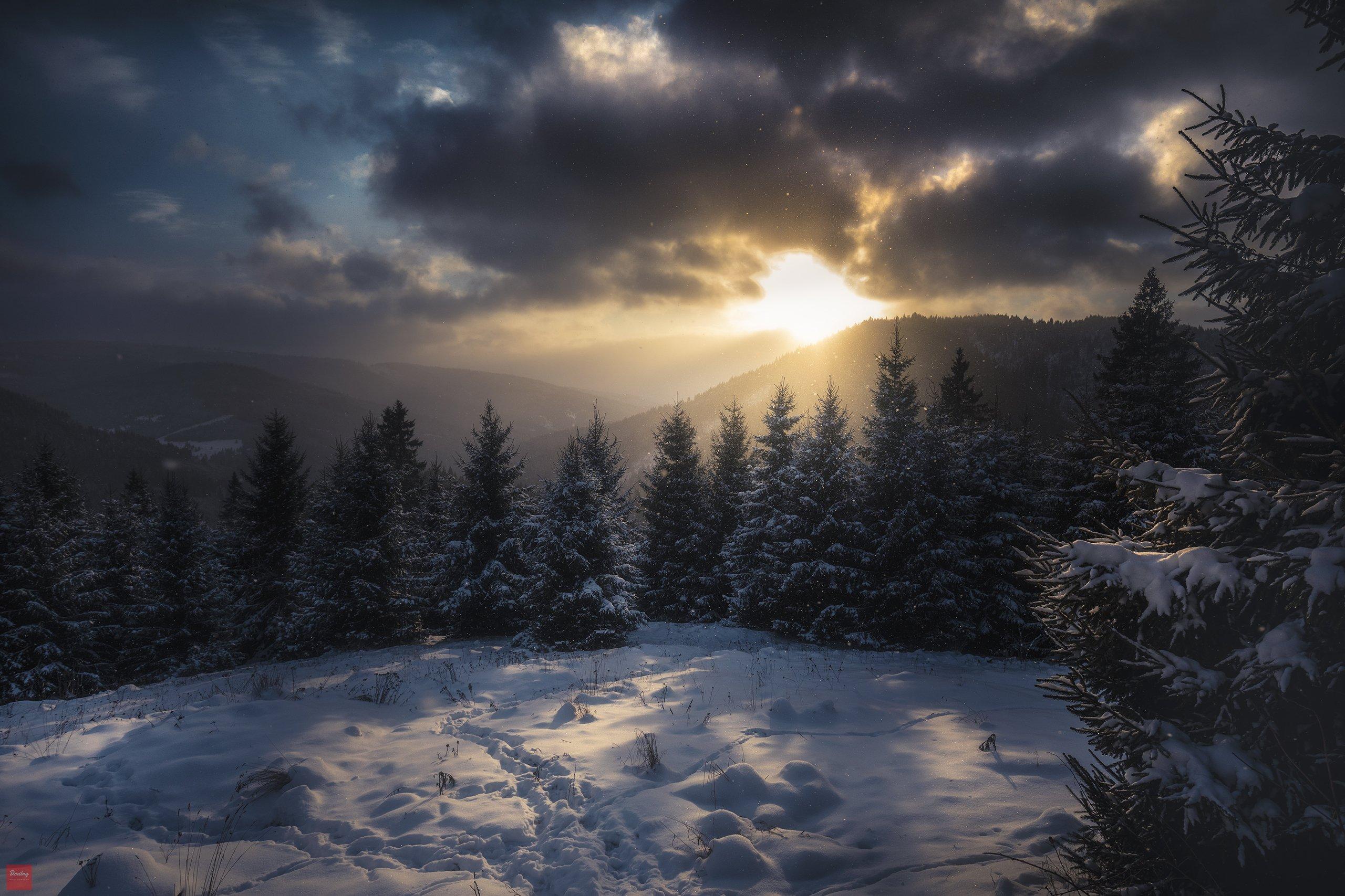 карпаты, горы, снег, Дмитрий Иванов