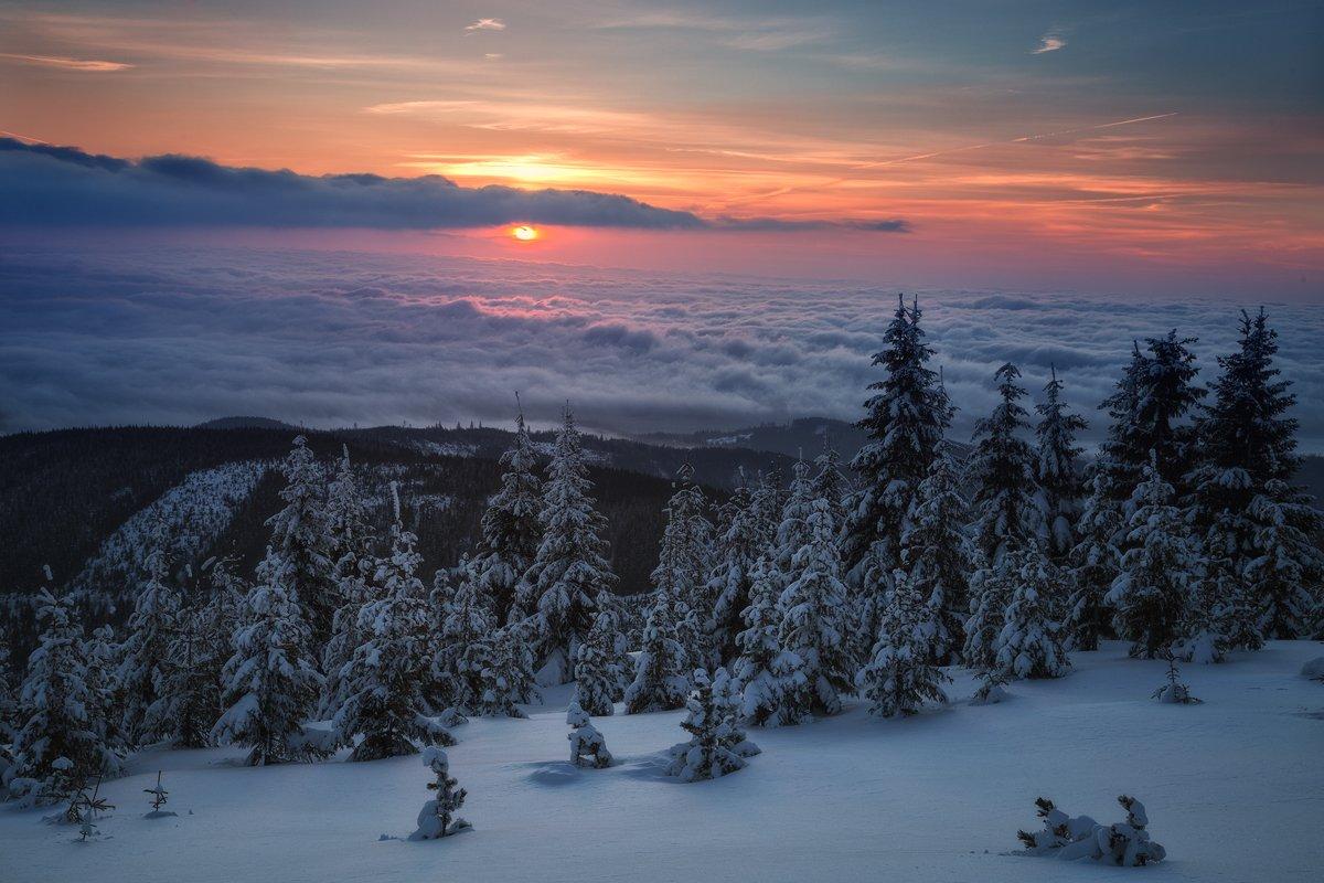 winter,mountains,canon,sunrise, Iza i Darek Mitręga