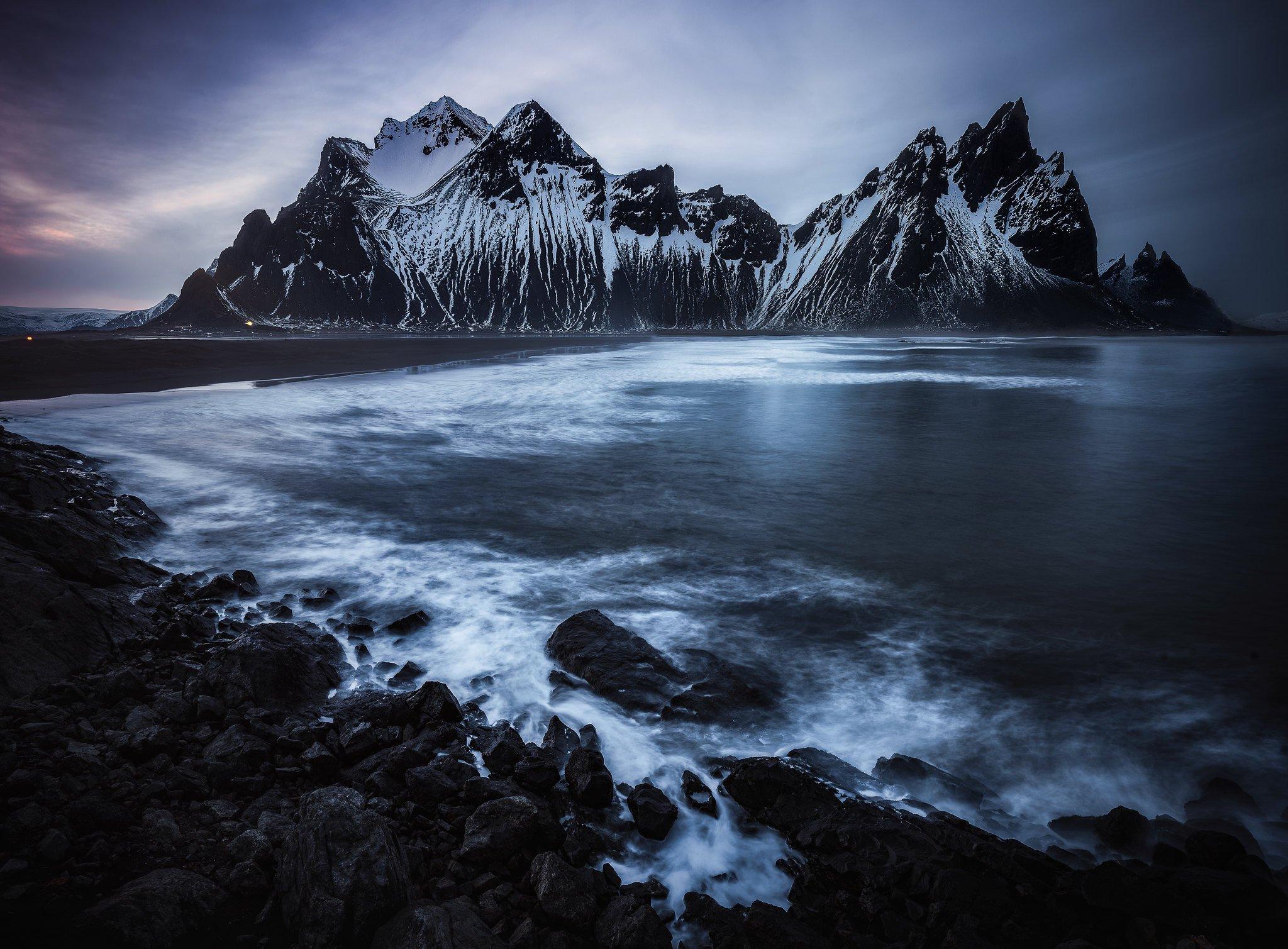 iceland, arctic, ocean, waves, Geguskov Zaprin