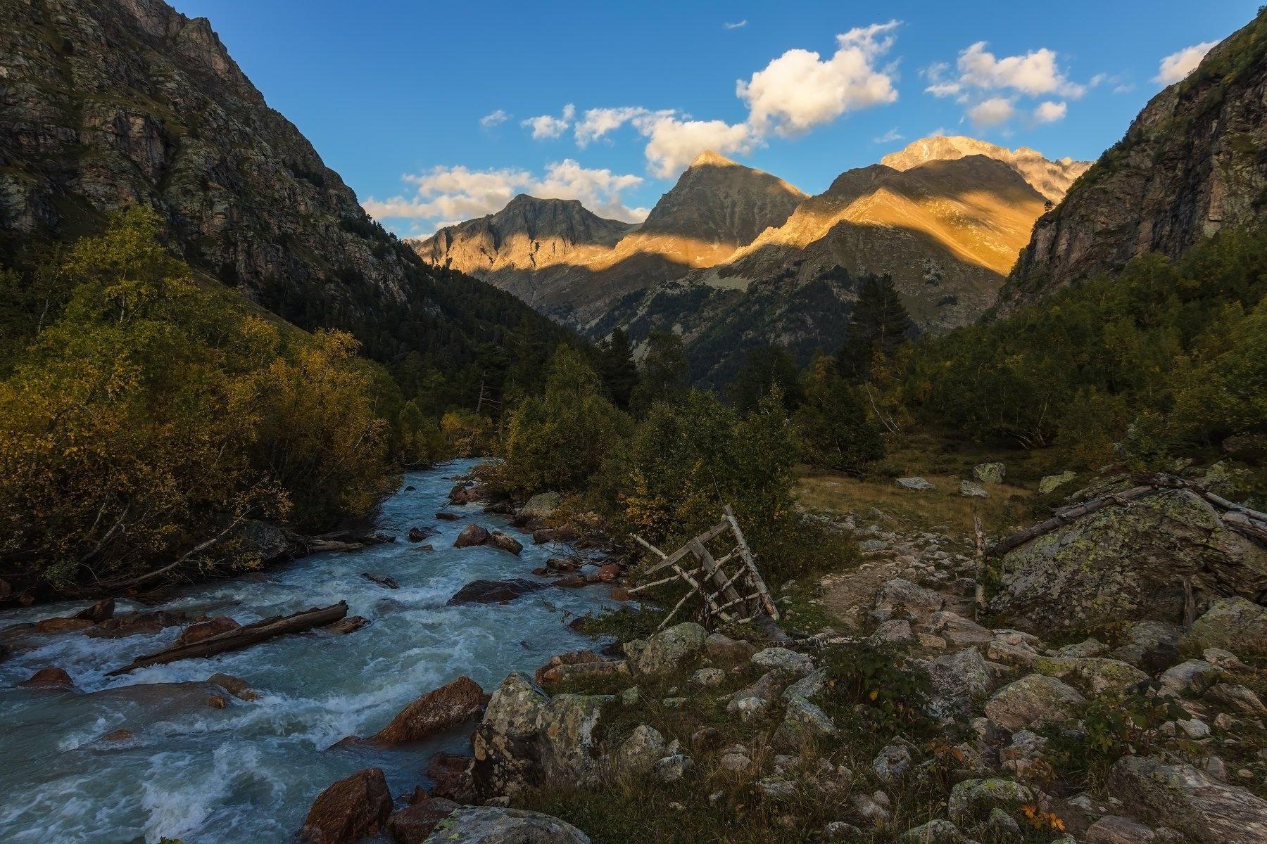 горы, закат, осень, Эстелла