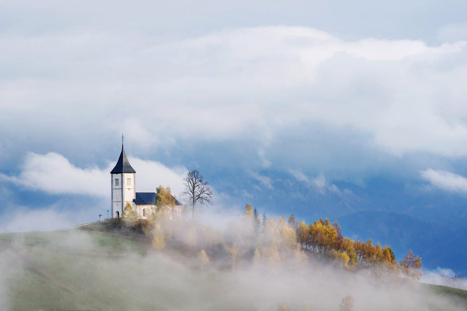 словения, slovenia, туманы словении, church, храмы словении, slovenia landscape, slovenia landscape photography, Татьяна Ефименко