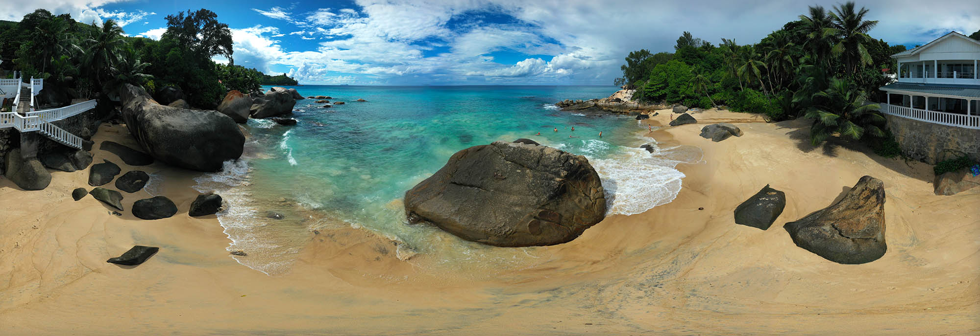 Сейшелы, Индийский океан, пляж, скалы, Борис Резванцев