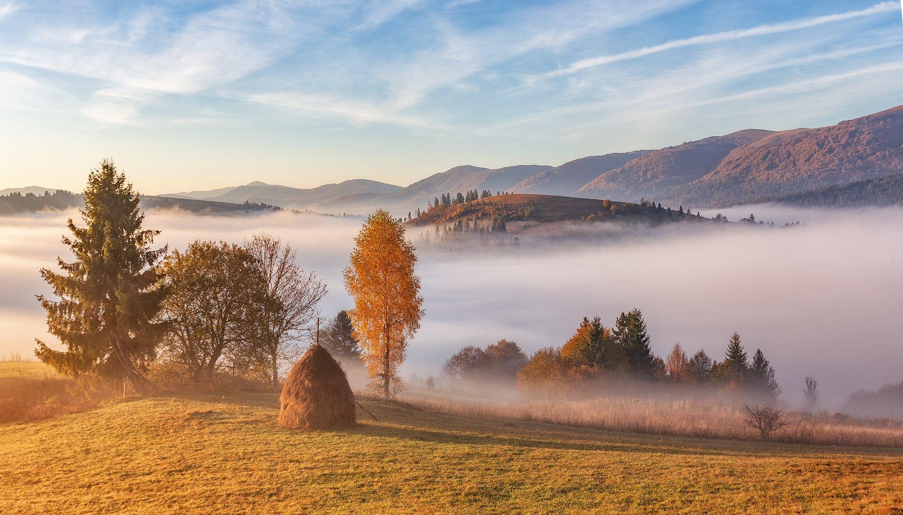 закарпатье, осень, рассвет, горы, Липецких Владимир