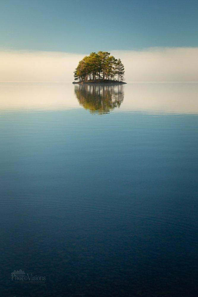nature,norway,norwegian,lake,jonsvatnet,island,forest,morning,fog foggy, Szatewicz Adrian