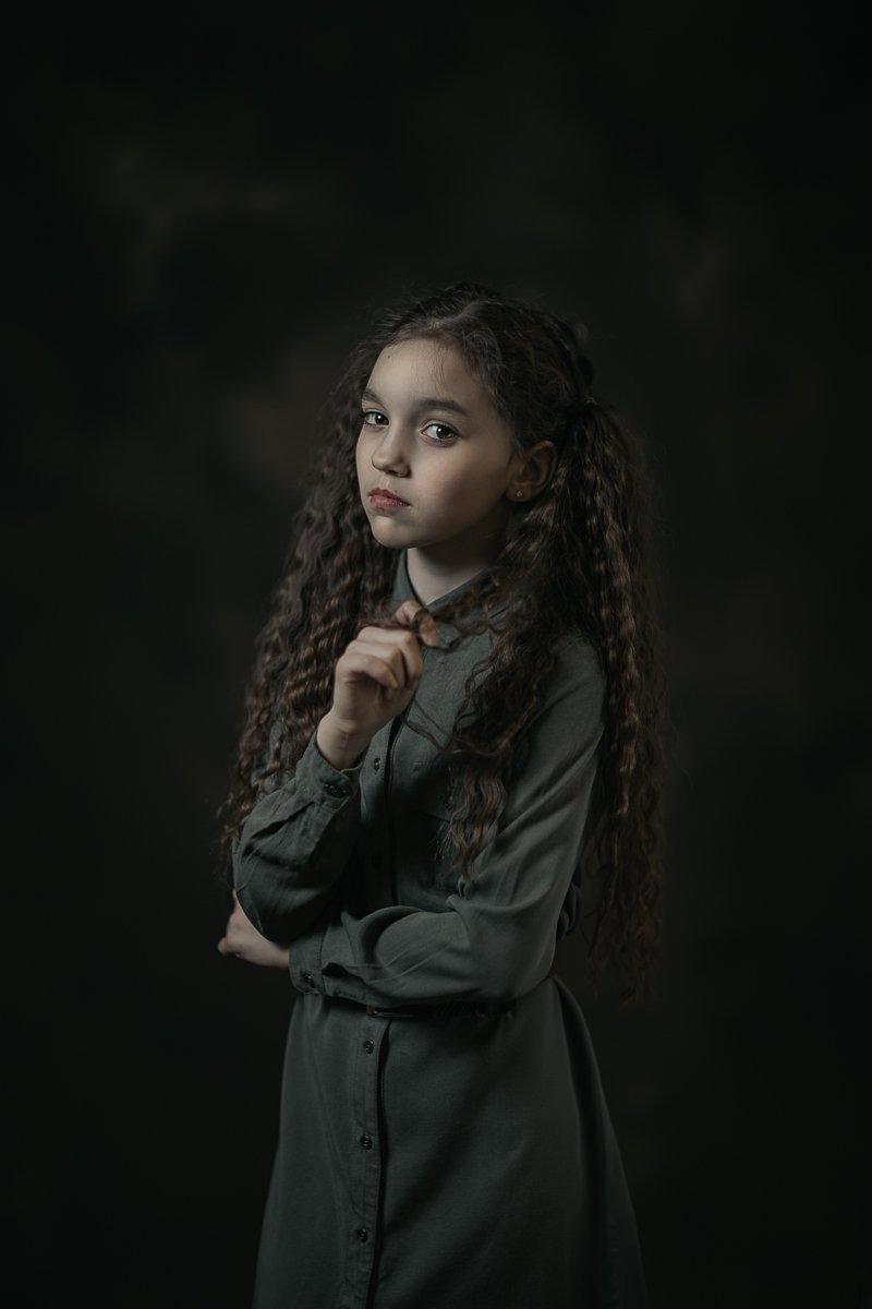 девочка портрет кудри волосы girl portrait hair, Баласюк Вероника