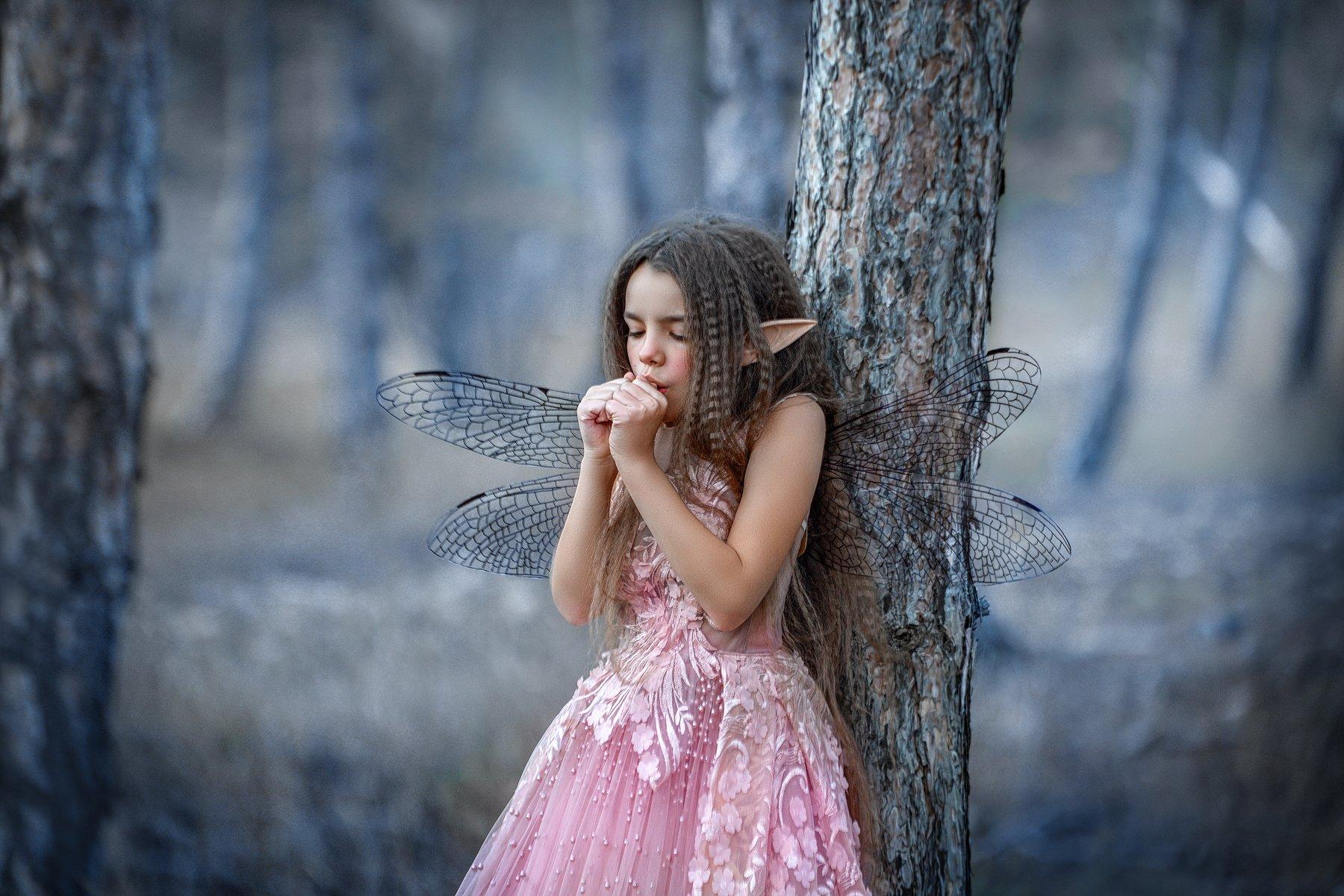 фея, лес, осень, крылья, девочка, Заручевская Надежда