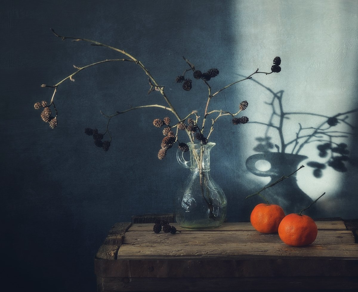 натюрморт,still_life,тень,мандарины,  Наталия К