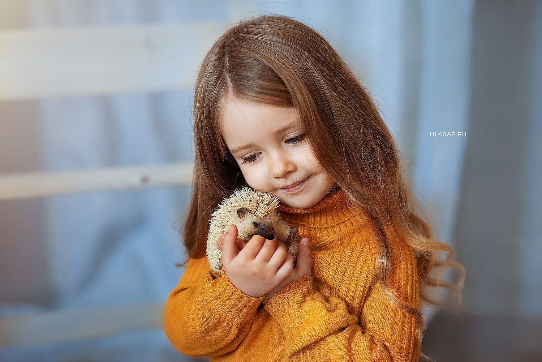 портрет, art, portrait, дети, девочка, girl, people, eyes, face, ежик, ежики, волшебство, magik, happy, nikon, 105mm, kid, children, hedgehog, Юлия Сафо