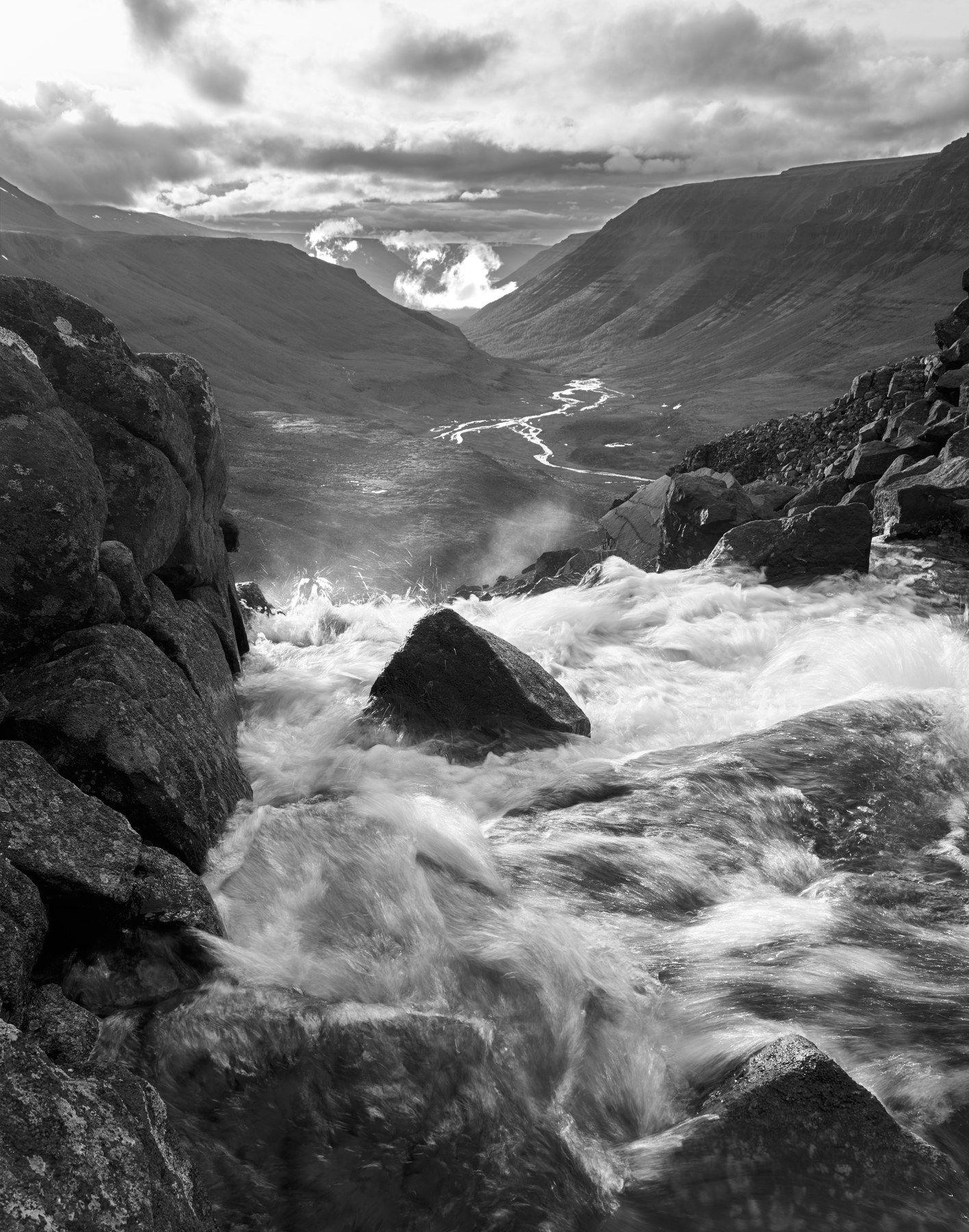 плато путорана, река, горы, таймыр, долина, водопад, Alexander