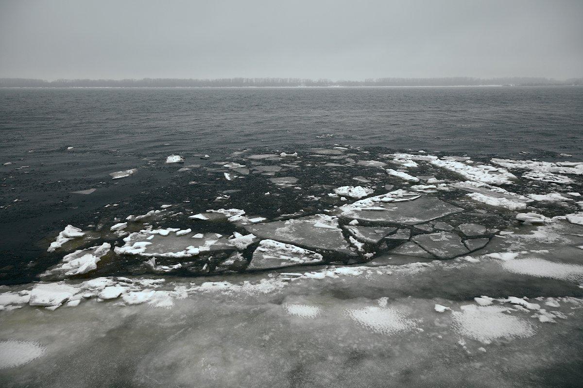 река, лед, зима, андрейларионов, пейзаж, Андрей Ларионов