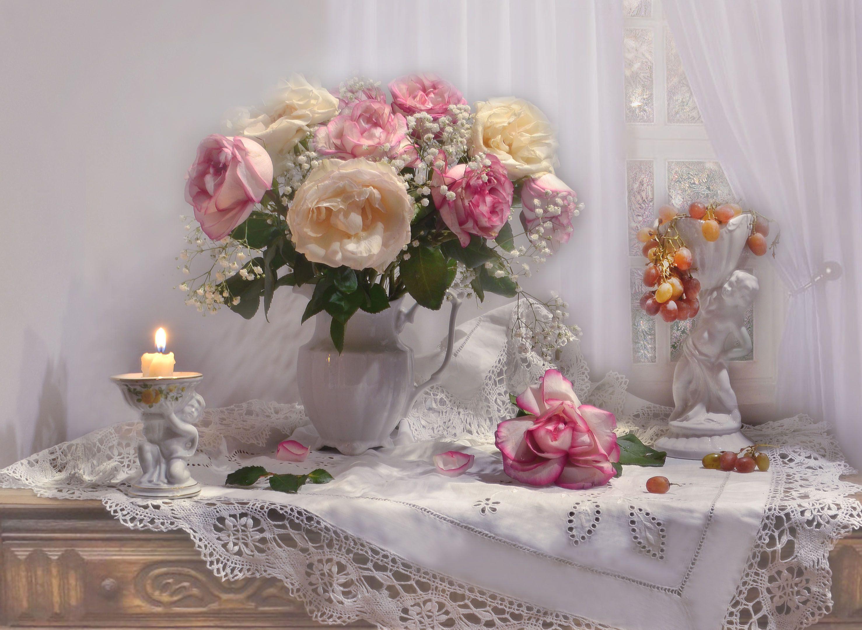 still lif,  натюрморт,  фото натюрморт,зима, февраль, виноград, свечи, подсвечник,настроение,розы,  стихи,, Колова Валентина