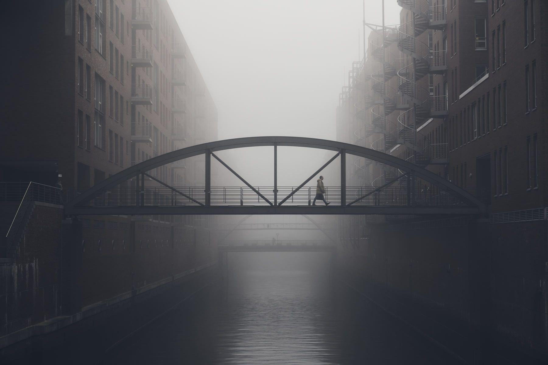 hamburg, germany, water, fleet, canal, speicherstadt, street, urban, Schönberg Alexander