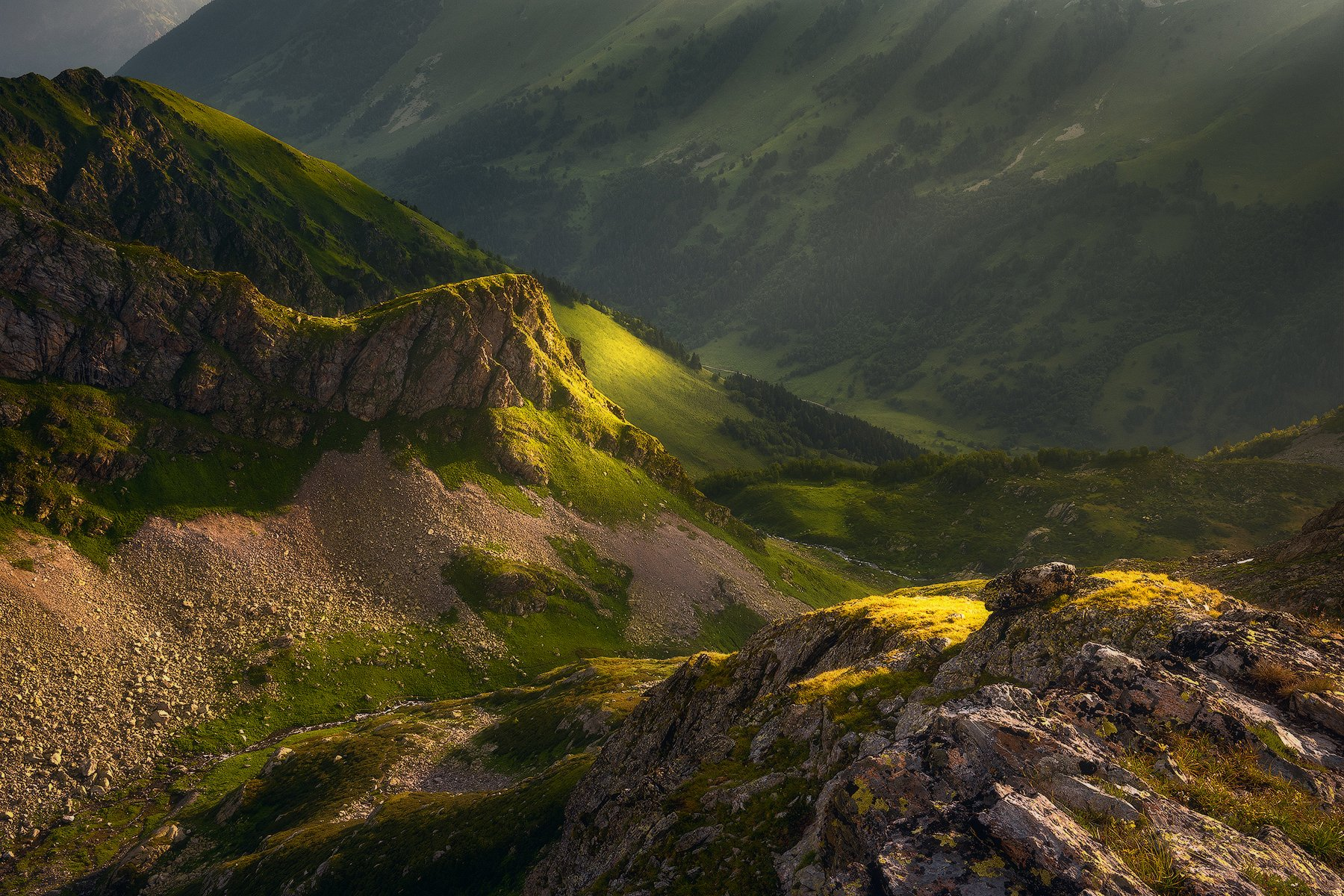 лето, горы, пейзаж, кавказ, архыз, Leschinskaya Tania