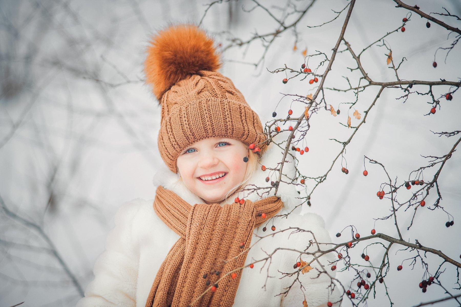 Девочка ребенок портрет зима , Алехина Ольга