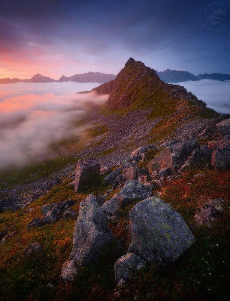 пейзаж, природа, облака, норвегия, сенья, лето, Гордиенко Анатолий
