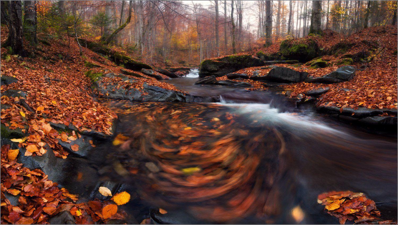 водопад, autumn, leaves, fog, two, foliage, лумшоры, осень, листья, листва, sigma, ковер, фототур, карпаты, воловец, пилипец, ясиня, ворохта, фото-тур, fototour, Влад Соколовский