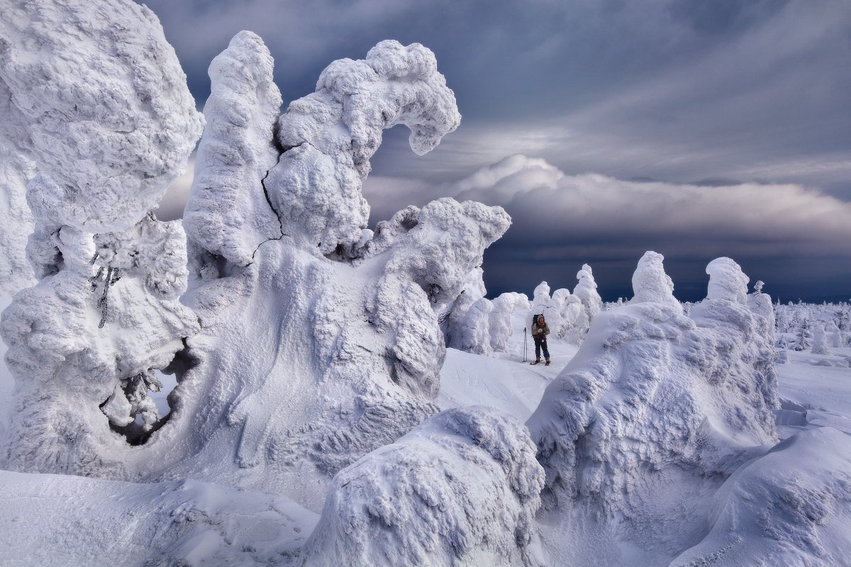 урал, зима, гух, горы, снег, ели, облака, Макурин Сергей
