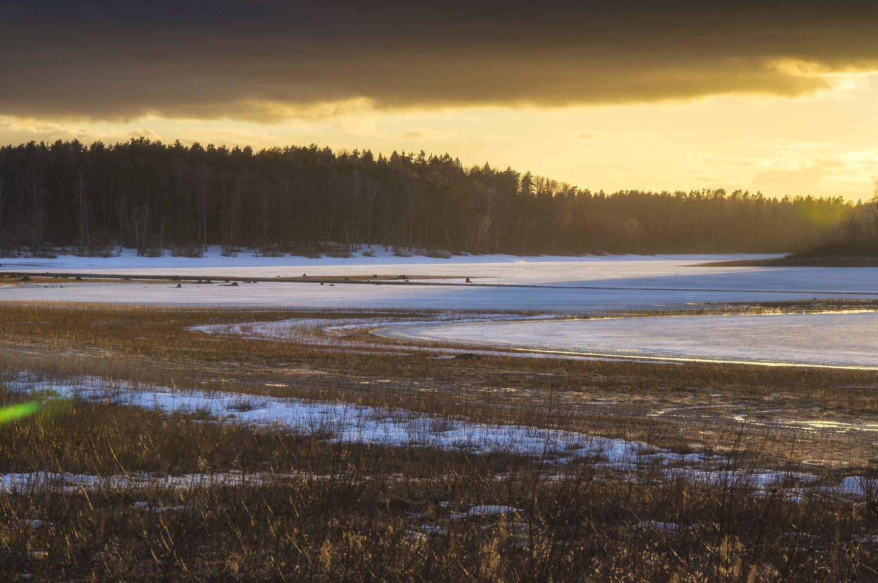 природа,пейзаж,лед,зима,закат, Павел Ныриков