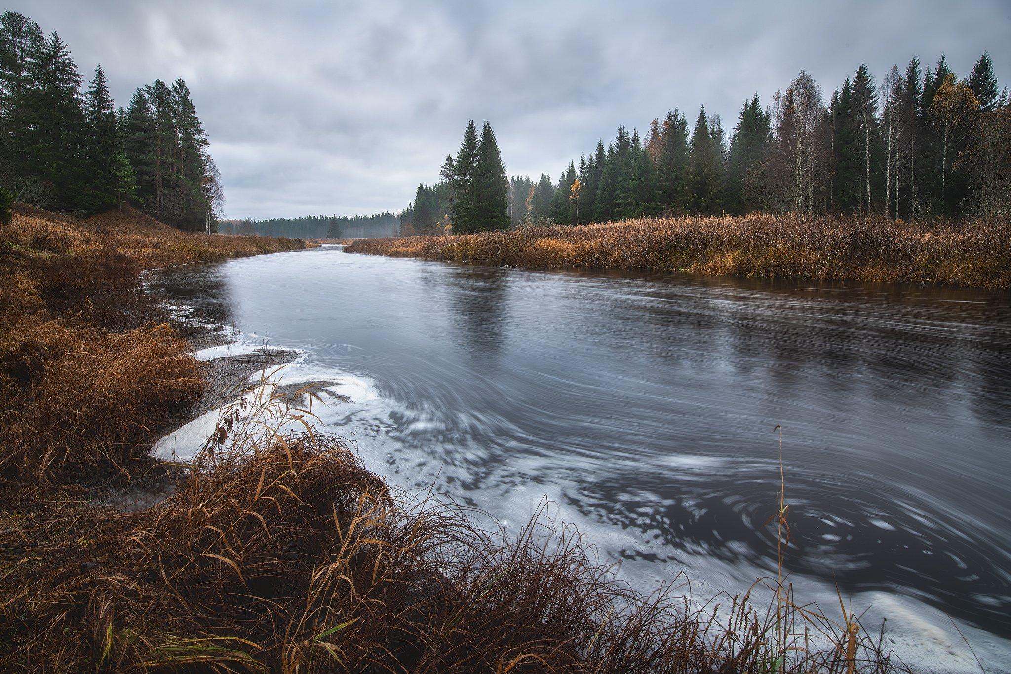 Осень, река, Кононов Антон