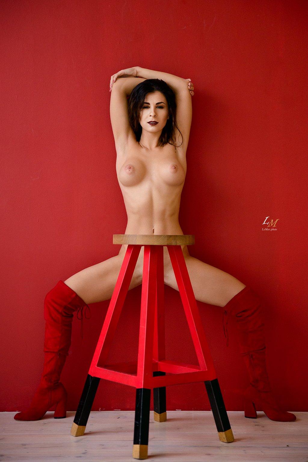 ню, студия, портрет, ню фотограф, москва, фотограф москва, ню фотограф, red, nude, Маркачев Леонид