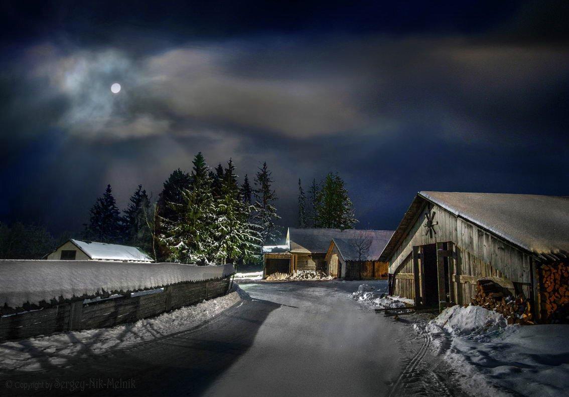 беларусь, звезды, зима, луна, мороз, ночь, снег, замок, гольшаны, вечера-на-хуторе, озерцо, логойск, дудутки, Serg-N- Melnik-oy