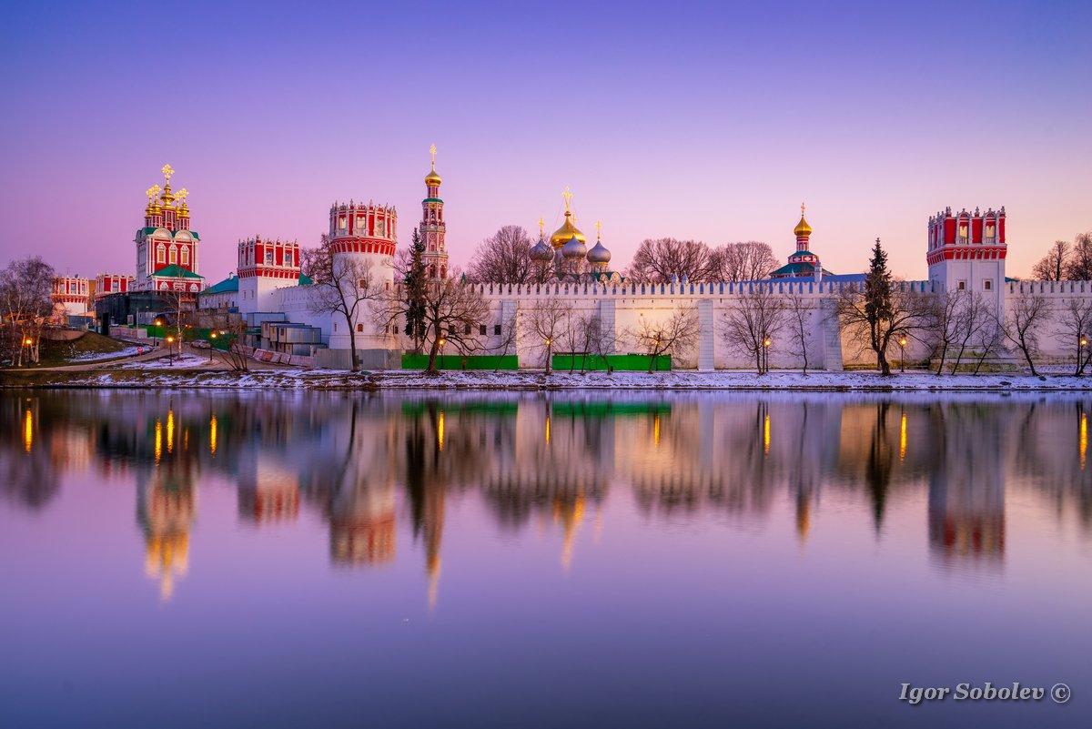 москва, новодевичий монастырь, отражение, Игорь Соболев