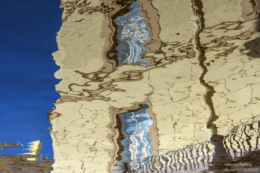 акваабстракция, акваграфика, абстракция, отражения на воде, парейдолия, зимнняя канавка, город, петербург, Павлова Марина