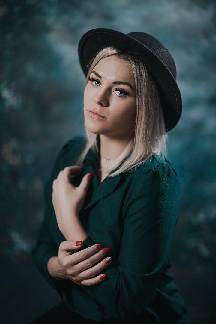 девочка, глаза, портрет, girl, portrait, шляпа, hat, eyes, Баласюк Вероника