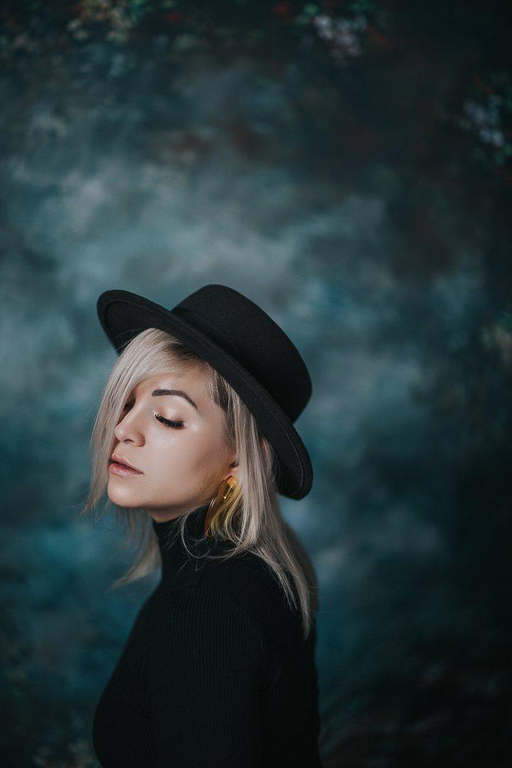 девочка глаза портрет girl portrait шляпа hat eyes, Баласюк Вероника