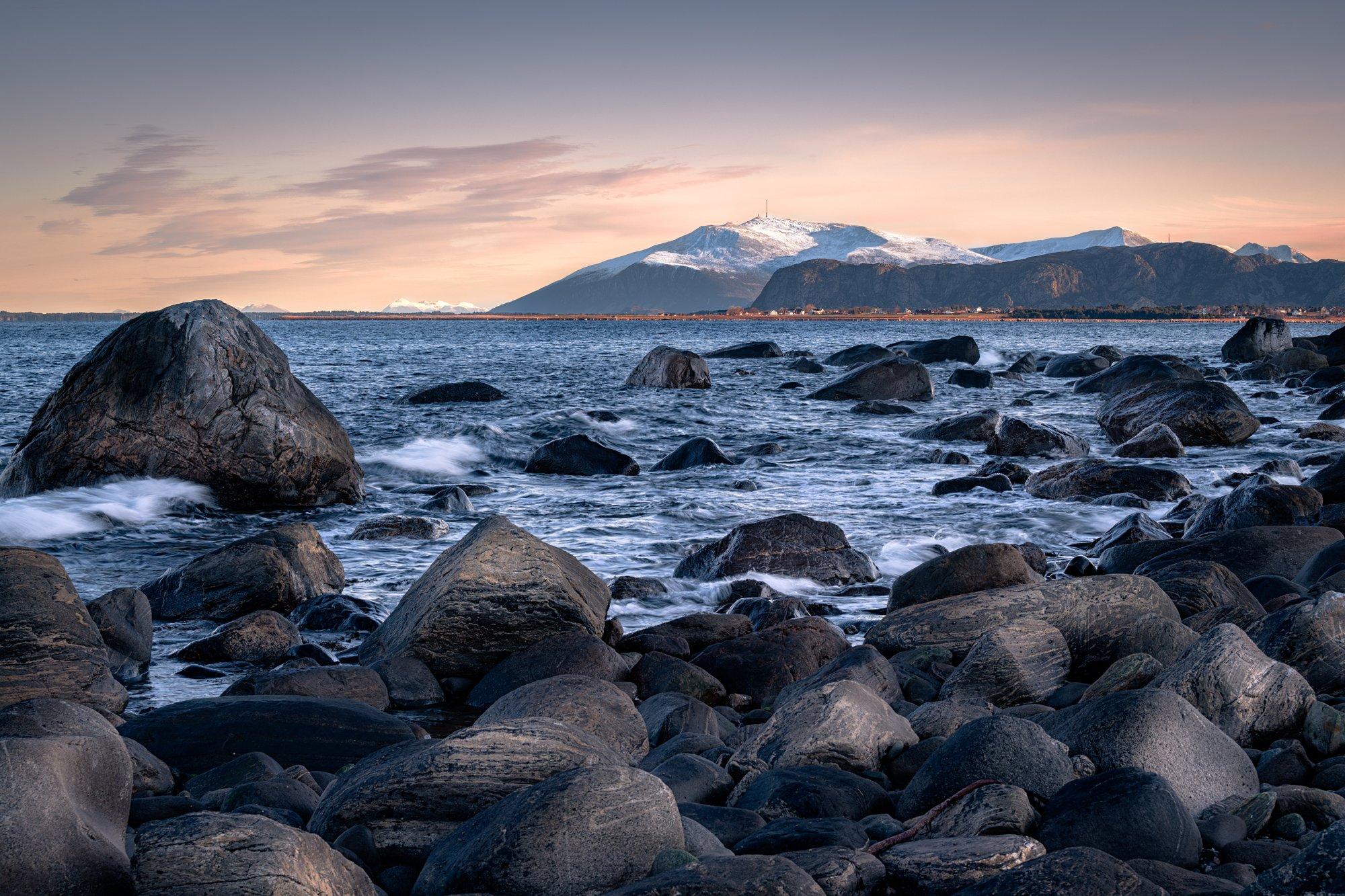 landscape, norway, fjord, nature, rocks, nikon, sea, mountain, water, sunset, colors, Imiełowski Grzegorz