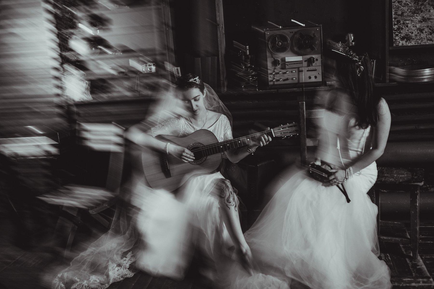 монохром, черно-белое фото, портрет, женский портрет, студия, свадебное фото, невесты, Белова Анна